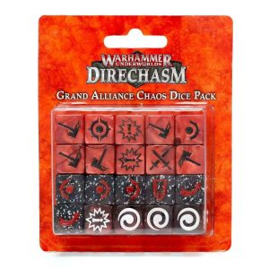 Games Workshop (Direct) Warhammer Underworlds  Warhammer Underworlds Underworlds Grand Alliance Chaos Dice Pack - 99220799017 - 5011921146321