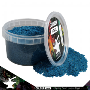 The Colour Forge   Sand & Flock Basing Sand - Aqua Blue (275ml) - TCF-BAS-009 - 5060843100829