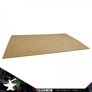 The Colour Forge   Cork Cork Sheet 2mm A4 - TCF-BAS-014 - 5060843100874