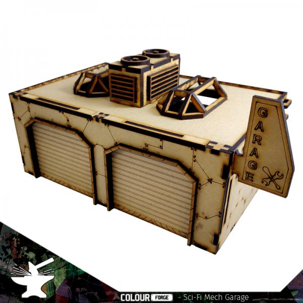 The Colour Forge   The Colour Forge Terrain Sci-Fi Mech Garage - TCF-SCI-010 - 5060843100768