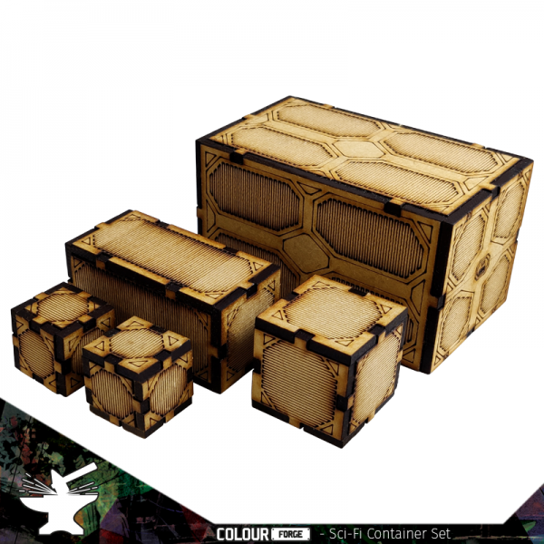The Colour Forge   The Colour Forge Terrain Sci-Fi Container Set - TCF-SCI-011 - 5060843100775