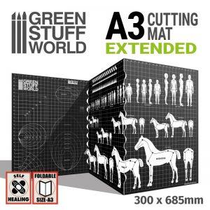 Green Stuff World   Cutting Mats Scale Cutting Mat A3 Extended - 8436574509151ES - 8436574509151