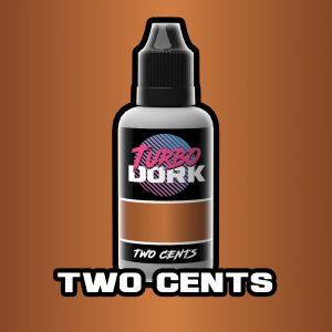 Turbo Dork   Turbo Dork Two Cents Metallic Acrylic Paint 20ml Bottle - TDTWCMTA20 - 631145995038