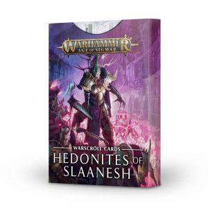 Games Workshop Age of Sigmar  Hedonites of Slaanesh Warscroll Cards: Hedonites of Slaanesh - 60050201002 - 5011921139989