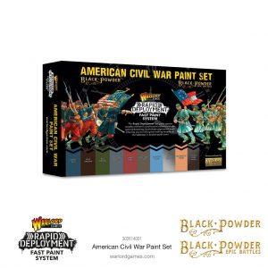 Warlord Games Black Powder | Black Powder Epic Battles  Black Powder Epic Battles Black Powder: American Civil War Paint Set - 302614001 - 5060572509405