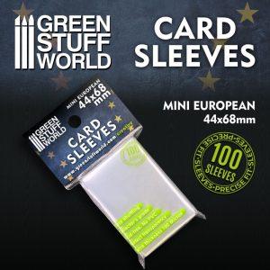 Green Stuff World   Green Stuff World Sleeves Card Sleeves - Mini European 44x68mm - 8436574508765ES - 8436574508765