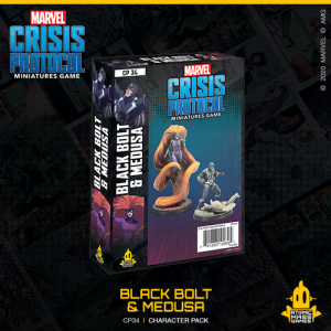 Atomic Mass Marvel Crisis Protocol  Marvel: Crisis Protocol Marvel Crisis Protocol: Black Bolt & Medusa - CP34 - 841333109394