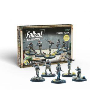 Modiphius Fallout: Wasteland Warfare  Fallout: Wasteland Warfare Fallout: Wasteland Warfare - NCR: Ranger Patrol - MUH052146 -