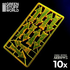 Green Stuff World   Status & Wound Markers Charge and Retreat Arrows - Fluor Orange - 8435646500553ES - 8435646500553