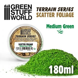 Green Stuff World   Lichen & Foliage Scatter Foliage - Medium Green - 180ml - 8435646500089ES - 8435646500089