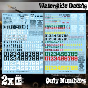Green Stuff World   Decals Waterslide Decals - Only Numbers - 8436574509496ES - 8436574509496