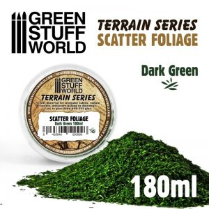 Green Stuff World   Lichen & Foliage Scatter Foliage - Dark Green - 180ml - 8435646500096ES - 8435646500096