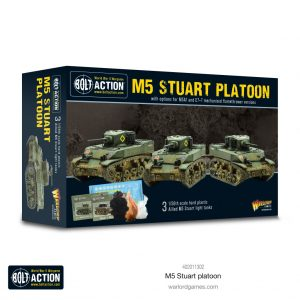 Warlord Games Bolt Action  United States of America (BA) M5 Stuart Platoon - 402011302 -