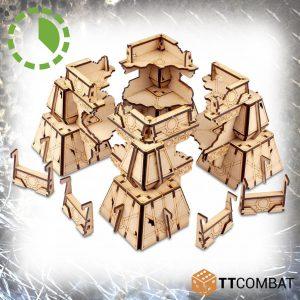 TTCombat   Sci Fi Gothic (28-32mm) Cyber Ruined Relay Hub - TTSCW-SFG-127 - 5060880910443