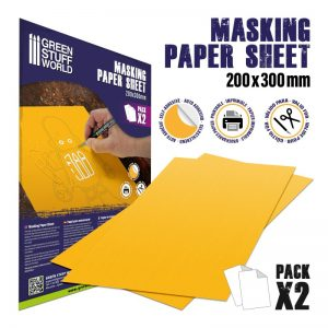 Green Stuff World   Airbrushes & Accessories Masking Paper Sheets x2 - 8436574509977ES - 8436574509977