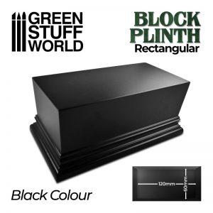 Green Stuff World   Display Plinths Rectangular Top Display Plinth 12x6cm - Black - 8435646500690ES - 8435646500690