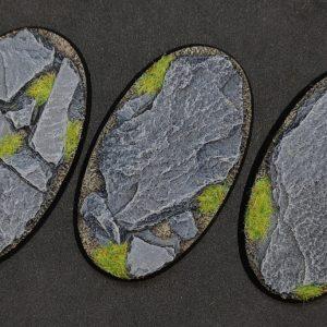 Baker Bases   Rocky Outcrop Rocky Outcrop: 75x42mm Oval Bases (3) - CB-RK-01-75v - CB-RK-01-75v