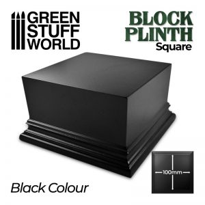 Green Stuff World   Display Plinths Square Top Display Plinth 10x10cm - Black - 8435646500676ES - 8435646500676