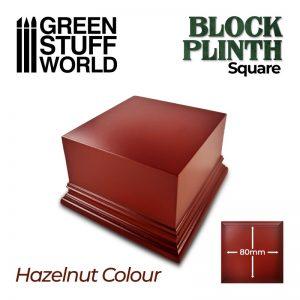 Green Stuff World   Display Plinths Square Top Display Plinth 8x8 cm - Hazelnut Brown - 8435646500645ES - 8435646500645