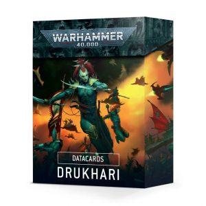 Games Workshop Warhammer 40,000  Drukhari Datacards: Drukhari (2021) - 60050112002 - 5011921140350