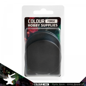 The Colour Forge   Plain Bases Plastic Bases - 60mm Round x3 - TCF-PPB-005 - 5060843101123