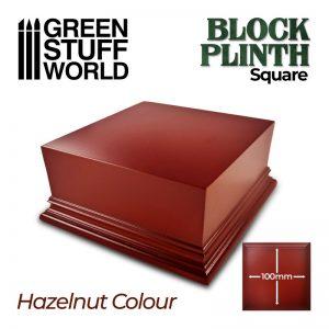 Green Stuff World   Display Plinths Square Top Display Plinth 10x10cm - Hazelnut Brown - 8435646500652ES - 8435646500652