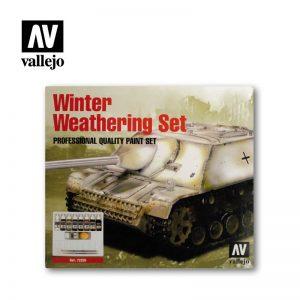 Vallejo   Paint Sets AV Acrylics - Winter Weathering Set - VAL72220 - 8429551722209