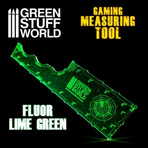 Green Stuff World   Tapes & Measuring Sticks Gaming Measuring Tool - Fluor Lime Green - 8435646500768ES - 8435646500768