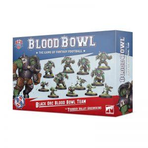 Games Workshop Blood Bowl  Blood Bowl Blood Bowl: The Thunder Valley Greenskins - Black Orc Team - 99120909005 - 5011921139354