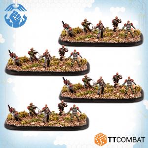 TTCombat Dropzone Commander  Resistance Infantry Resistance Berserker Assault Troops - TTDZR-RES-022 - 5060880911327