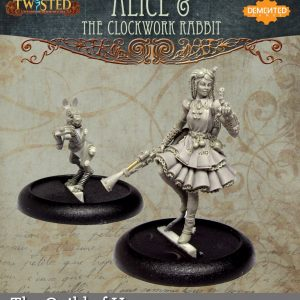 Demented Games Twisted: A Steampunk Skirmish Game  Guild of Harmony Alice and the Clockwork Rabbit (Metal) - RGM003 -