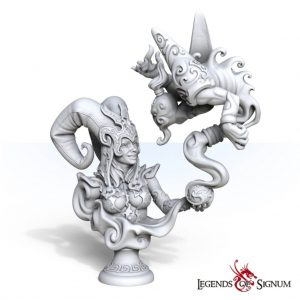 Signum Games Legends of Signum  Free City of Vallor Bust of Zema the Mage - LSM-1313 -
