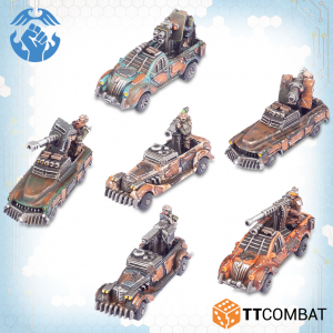TTCombat Dropzone Commander  Resistance Land Vehicles Resistance Rocket Technicals - TTDZR-RES-011 - 5060880911242