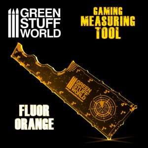 Green Stuff World   Tapes & Measuring Sticks Gaming Measuring Tool - Fluor Orange - 8435646500751ES - 8435646500751