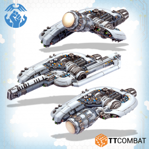 TTCombat Dropfleet Commander  The Resistance Fleet Resistance Newton Monitors - TTDFR-RES-005 - 5060880910528