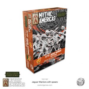 Warlord Games Warlord of Erehwon  Warlords of Erehwon Mythic Americas: Jaguar Warriors with spears - 722211007 - 5060572509719