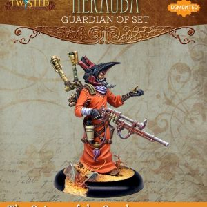 Demented Games Twisted: A Steampunk Skirmish Game  Scions of the Sands Guardian of Set Astronomer Nekauba (Resin) - RER104 -