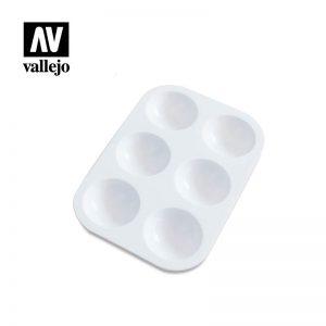 Vallejo   Paint Palettes AV Palette - Small 13 x 9cm - VALHS120 - 5052418156614