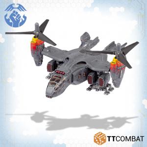 TTCombat Dropzone Commander  Resistance Transports Resistance Strikehawk Tilt-Rotor - TTDZR-RES-019 - 5060880911303