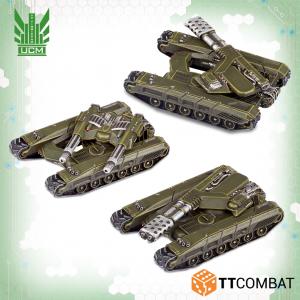 TTCombat Dropzone Commander  UCM Land Vehicles UCM Katana Light Tanks - TTDZR-UCM-009 - 5060880910757