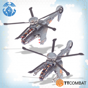 TTCombat Dropzone Commander  Resistance Air Vehicles Resistance Cyclone Attack Copters - TTDZR-RES-016 - 5060880911273