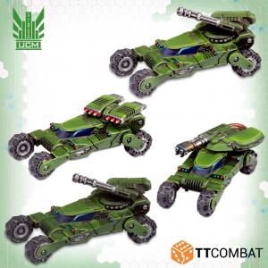 TTCombat Dropzone Commander  UCM Land Vehicles UCM Wolverine Scout Buggies - TTDZR-UCM-012 - 5060880910788