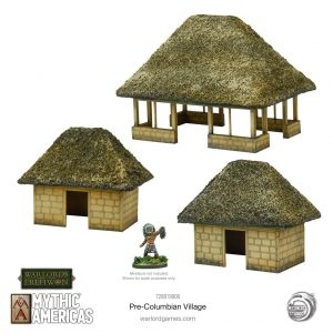 Warlord Games Warlord of Erehwon  Warlords of Erehwon Mythic Americas Pre-Columbian village - 728819906 - 5060572509719