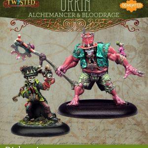 Demented Games Twisted: A Steampunk Skirmish Game  Dickensians Urkin Alchemancer & Bloodrage Urkin (Metal) - RDM201 -
