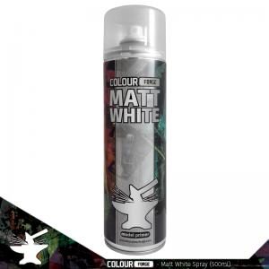 The Colour Forge   Spray Paint Colour Forge Matt White Spray (500ml) - TCF-SPR-002 - 5060843100935