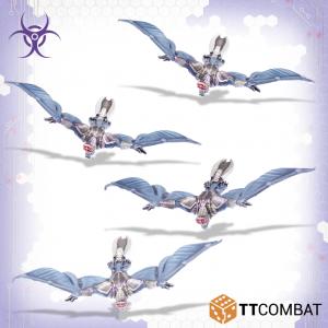 TTCombat Dropzone Commander  Scourge Air Vehicles Scourge Vampires - TTDZR-SCG-016 - 5060880910955