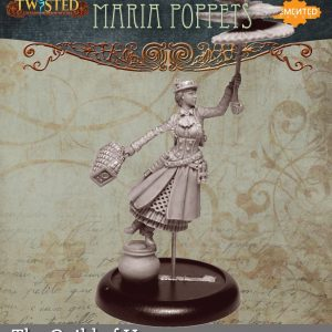 Demented Games Twisted: A Steampunk Skirmish Game  Guild of Harmony Maria Poppetts (Metal) - RGM006 -