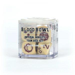 Games Workshop Blood Bowl  Games Workshop Dice Blood Bowl: Imperial Nobility Dice Set - 99220902002 - 5011921143993