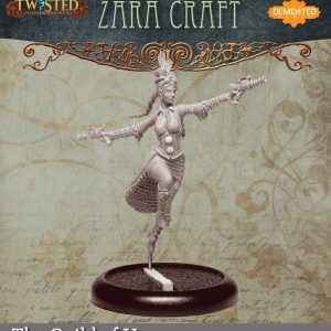 Demented Games Twisted: A Steampunk Skirmish Game  Guild of Harmony Zara Craft (Metal) - RGM004 -