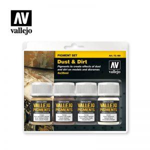 Vallejo   Pigments AV Vallejo Pigments Set - Dust & Dirt - VAL73190 - 8429551731904